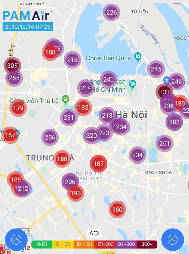 Ngày thứ 7 liên tiếp không khí Hà Nội ở ngưỡng rất có hại cho sức khoẻ  - Ảnh 1.