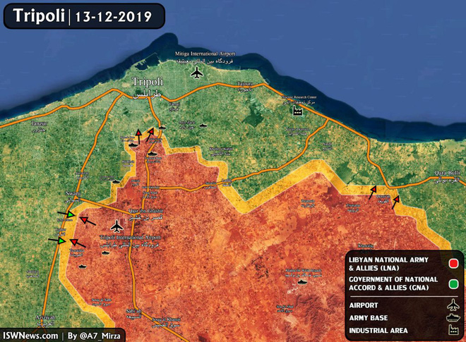Thủ đô Tripoli của Libya nguy ngập, bị tấn công từ 2 hướng - Pháo Lốc xoáy của Syria xung trận, phiến quân khiếp đảm - Ảnh 6.