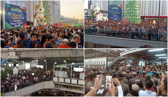 Thái Lan: Biểu tình lớn kỷ lục nổ ra tại thủ đô Bangkok kể từ sau cuộc đảo chính năm 2014 - Ảnh 3.