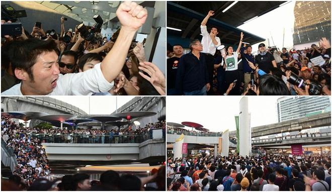 Thái Lan: Biểu tình lớn kỷ lục nổ ra tại thủ đô Bangkok kể từ sau cuộc đảo chính năm 2014 - Ảnh 4.