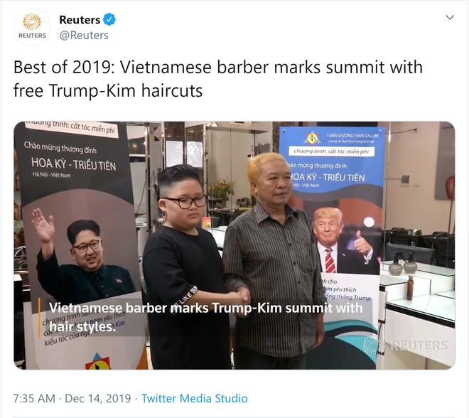 Những điều tuyệt vời nhất năm 2019: Reuters ấn tượng về cách tiệm cắt tóc ở HN chào đón thượng đỉnh Mỹ-Triều - Ảnh 1.