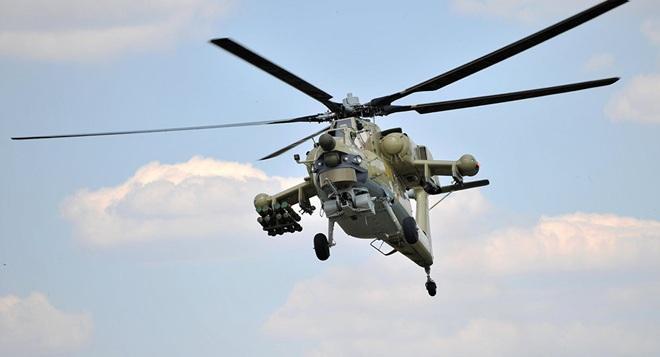 Nga công bố hình ảnh trực thăng Mi-28UB rơi trong khi bay huấn luyện - Ảnh 1.