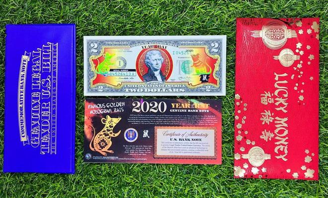 Sính hàng ngoại lì xì Tết, tiền in hình chuột Canh Tý bay về Việt Nam đắt như tôm tươi - Ảnh 1.