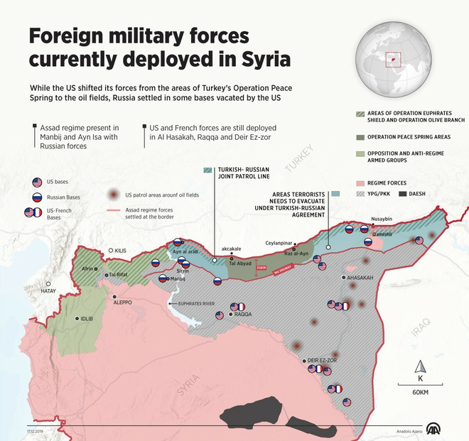 Báo Thổ cay đắng: Kết quả của chiến dịch QS ở Syria ư, hãy đếm số căn cứ nước ngoài! - Ảnh 2.