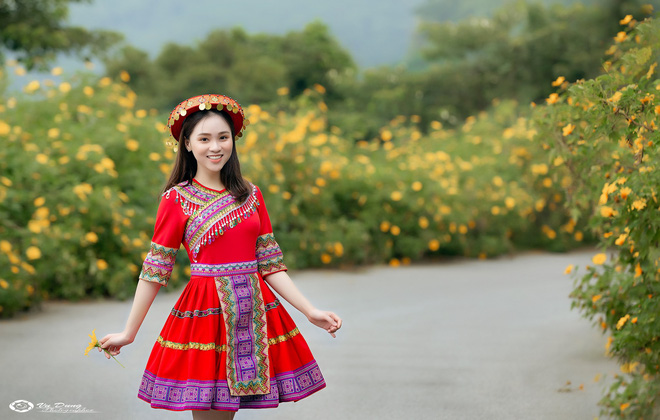 Xuất hiện giữa vườn hoa dã quỳ, cô gái 18 tuổi khiến dân mạng truy tìm, thấy nụ cười ai cũng hiểu lý do - ảnh 3