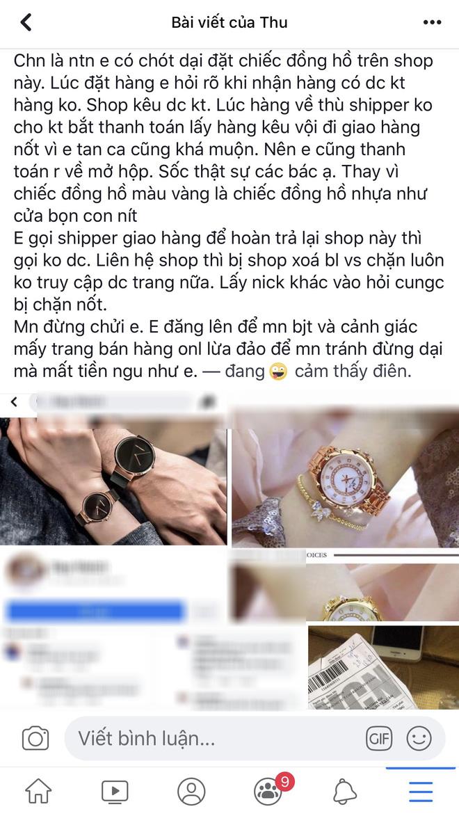 Đặt mua đồng hồ sang chảnh, nhận về đồng hồ nhựa, cô gái lên mạng than liền bị mắng vì một lý do - ảnh 1