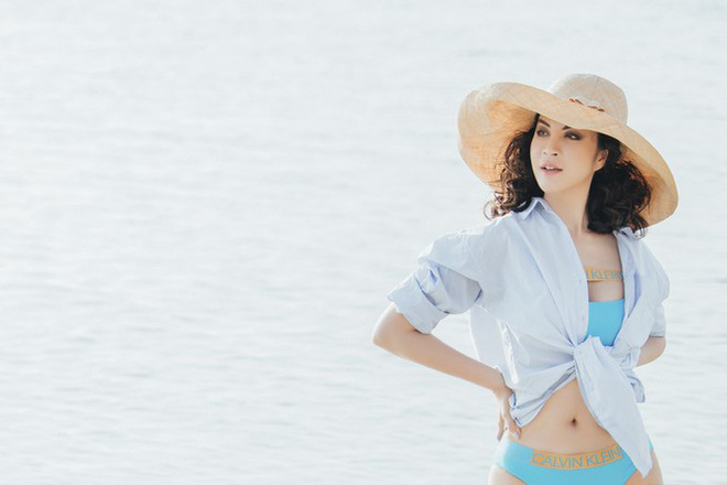 MC Thanh Mai gây choáng khi mặc bikini khoe body không tỳ vết ở tuổi 46 - Ảnh 7.
