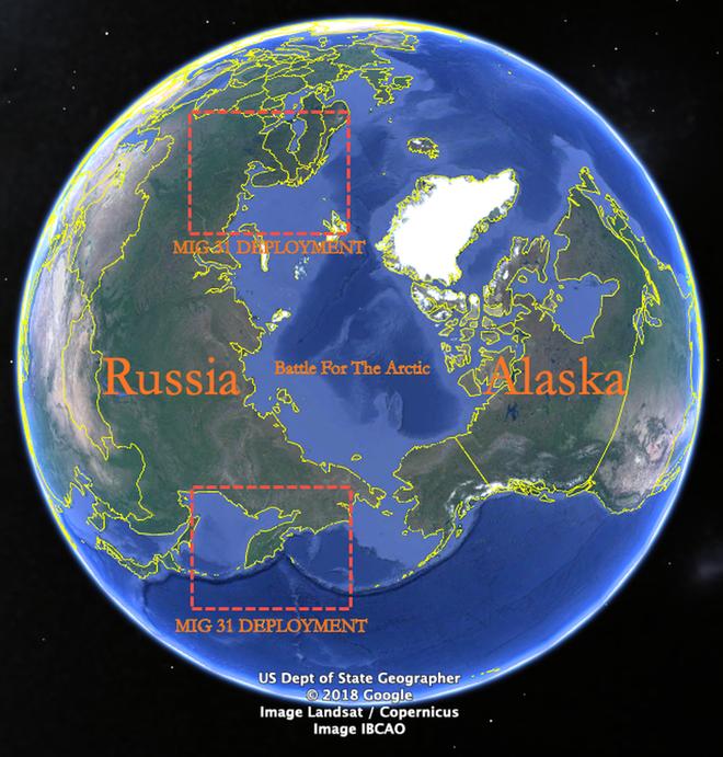 MiG-31 mang tên lửa Kinzhal trấn yểm biên ải Nga: Kẻ thù hãy tránh xa! - Ảnh 1.