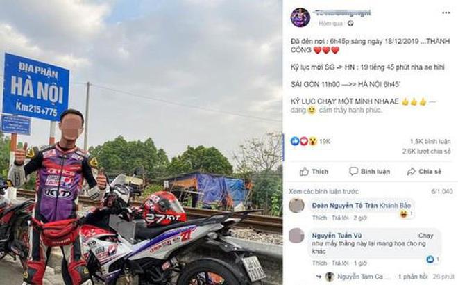 Phượt thủ đi xe máy từ TP.HCM ra Hà Nội trong 20 tiếng tự nguyện nộp phạt