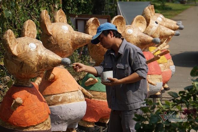 Lộ diện đàn chuột ngộ nghĩnh sắp ra đường hoa Nguyễn Huệ Tết Canh Tý - Ảnh 5.