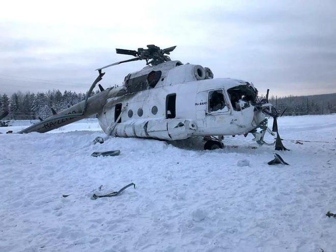 NÓNG: Trực thăng Mi-8 gãy cánh trong bão tuyết ở miền Trung nước Nga, 3 người lâm nạn - Ảnh 1.