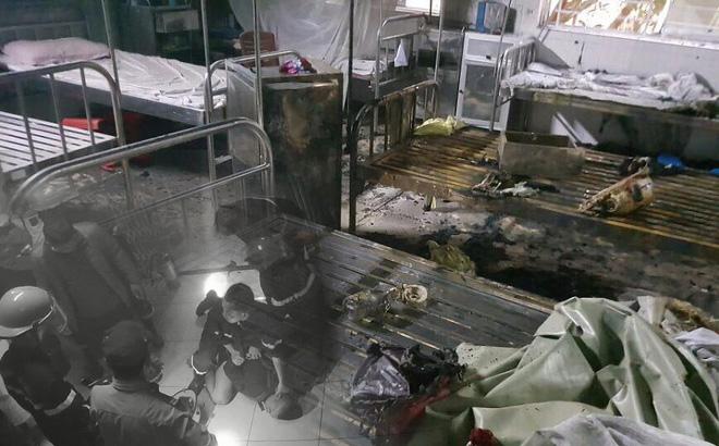 Hiện trường tan hoang vụ nam bệnh nhân đốt bệnh viện, khống chế để hiếp dâm nữ y tá đang mang thai