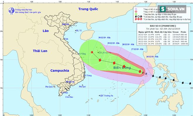 Phanfone tăng tốc vào Biển Đông: Bão số 8 giật cấp 14 cách đất liền nước ta bao nhiêu km? - Ảnh 1.