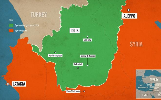 """""""Chảo lửa"""" Idlib lại """"rực cháy"""": Nga mặc sức tấn công như vũ bão, Thổ Nhĩ Kỳ chỉ biết """"ngậm đắng nuốt cay""""?"""