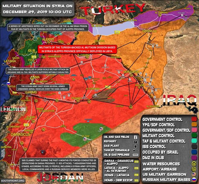 CẬP NHẬT: Căn cứ bị tập kích trong đêm, Pantsir-S1 của Syria bắn tới tấp - UAV phiến quân rơi lả tả - Ảnh 1.