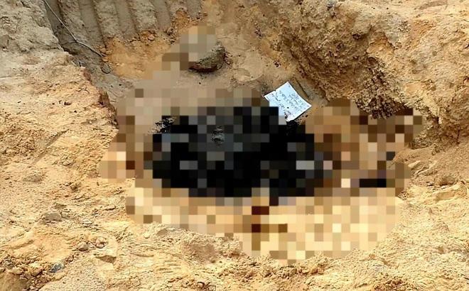 Phát hiện thi thể bị cháy đen nằm dưới hố sâu trong công trình xây dựng
