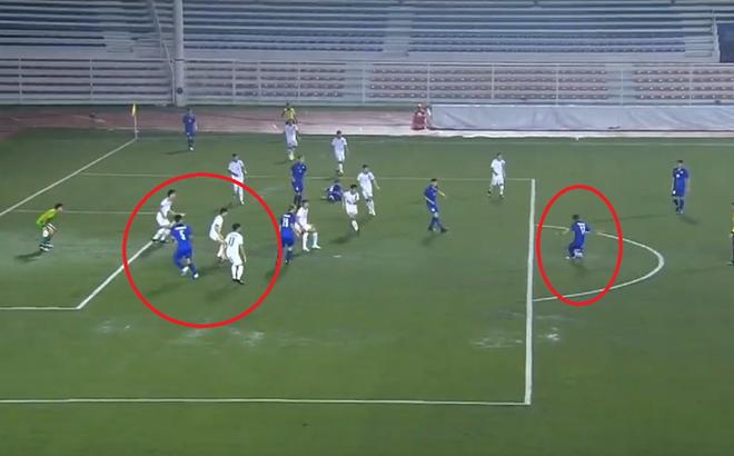 Trọng tài mắc sai lầm, cướp mất bàn thắng của U22 Thái Lan
