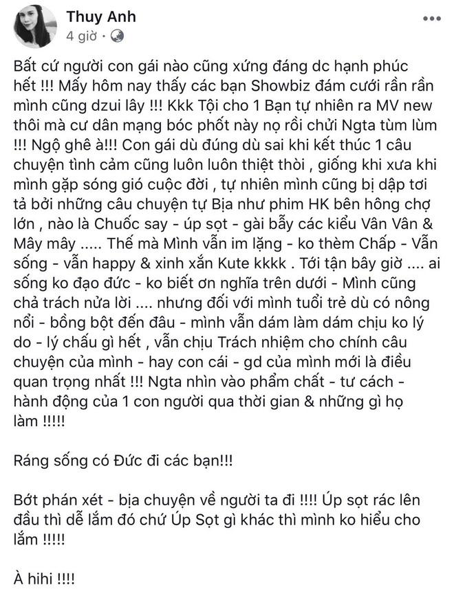 Em gái Thanh Thảo bất ngờ nhắc lại chuyện với Ngô Kiến Huy, đồng cảm với tình địch một thời Khổng Tú Quỳnh - ảnh 1