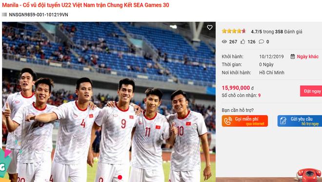 Sau 4 trận bất bại của U22 Việt Nam, tour 8 triệu xem chung kết SEA Games hot bỏng tay - Ảnh 1.