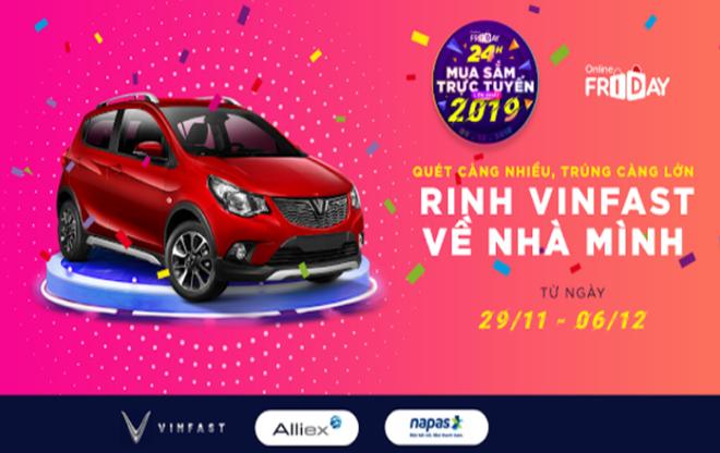 Lần đầu tiên săn mã voucher nhận Vinfast Fadil trong ngày Online Friday lớn nhất Việt Nam - Ảnh 1.