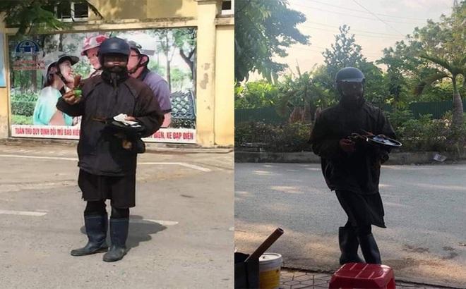 Người đàn ông mặc đồ đen, ăn xin kỳ quái có vi phạm pháp luật?
