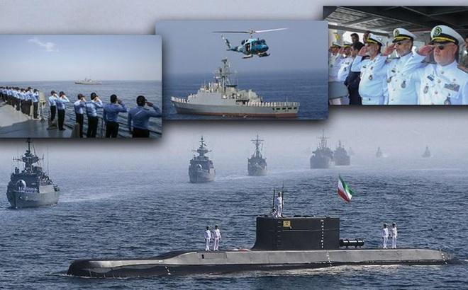 """Hải quân Iran """"vỗ ngực"""" mạnh thứ 4 thế giới: Ẩn số nằm ở tàu ngầm Triều Tiên?"""