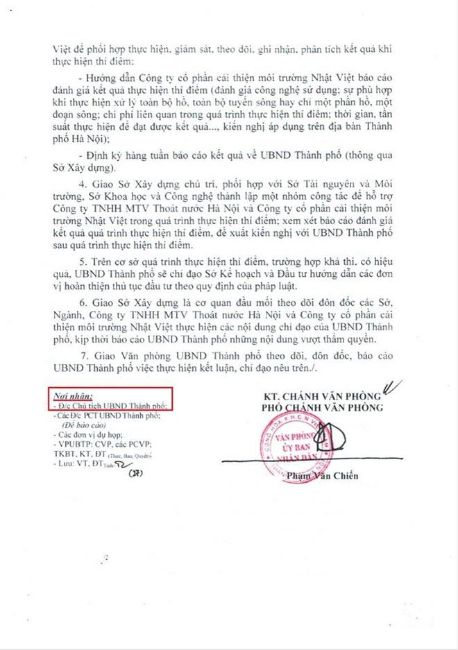 Tổ chức Nhật Bản JEBO buồn vì Chủ tịch Hà Nội nói thử nghiệm làm sạch sông Tô Lịch không xin phép - Ảnh 3.