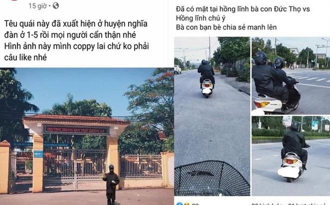 """Thực hư thông tin nhóm """"ăn xin mặt quỷ"""" về đến Nghệ An, Hà Tĩnh"""