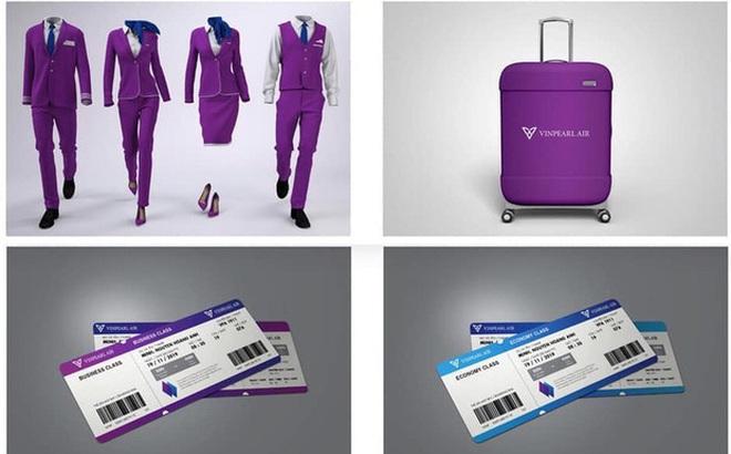 Dân mạng lan truyền bộ nhận diện thương hiệu 'tím lịm tìm sim', nghi là màu chủ đạo của Hãng hàng không Vinpearl Air