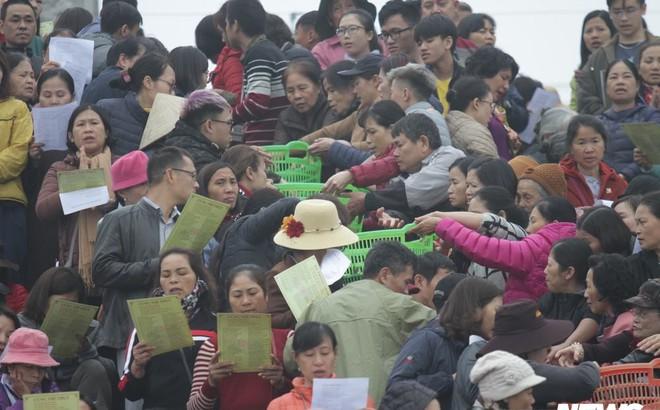 Ảnh: 15.000 người tham gia thả 10 tấn cá xuống sông Hồng trong lễ phóng sinh lớn nhất Hà Nội