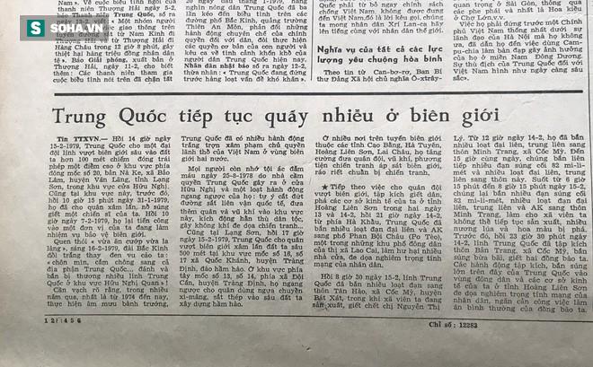 Bài báo năm 1979 viết về chiến tranh biên giới: Trung Quốc tiếp tục quấy nhiễu ở biên giới