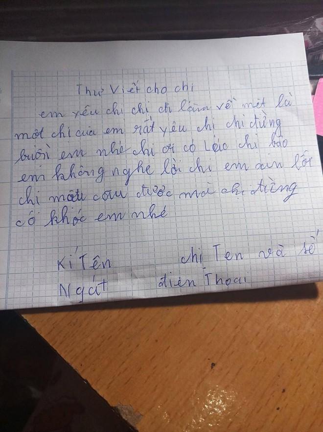 Bức thư của em gái mồ côi gửi cho chị khiến dân mạng rơm rớm nước mắt - Ảnh 1.