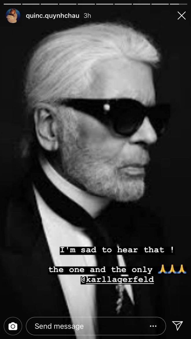 Hoa hậu Mai Phương Thuý, Á hậu Phương Nga và nhiều NTK, stylist thương tiếc trước sự ra đi của huyền thoại thời trang Karl Lagerfeld - Ảnh 8.