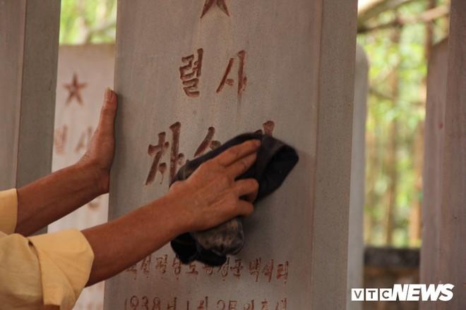 Ảnh: Người thương binh hơn 20 năm cặm cụi chăm sóc khu tưởng niệm liệt sĩ Triều Tiên ở Bắc Giang - Ảnh 5.
