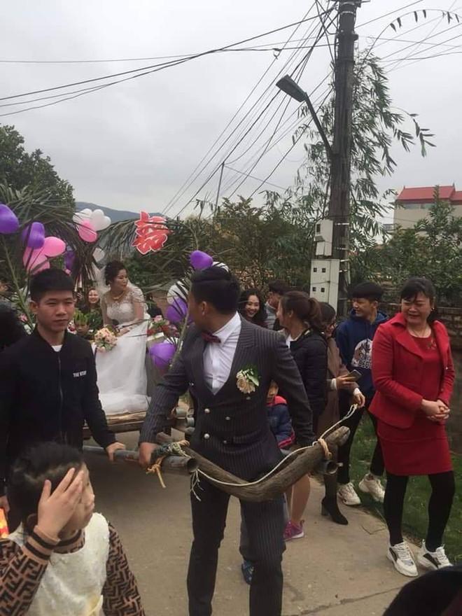 Người đàn ông tự tay kéo xe bò, rước vợ về nhà trong đám cưới khiến dân mạng tấm tắc khen - Ảnh 1.
