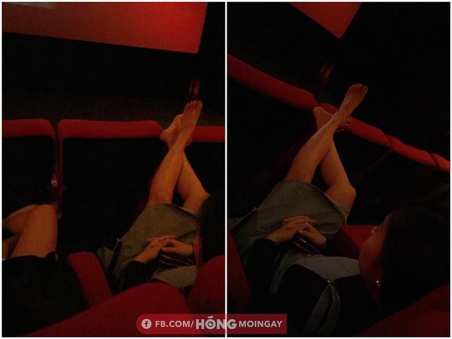 Gác chân lên ghế trong rạp phim, cô gái nhận phản ứng chưa từng có của dân mạng - Ảnh 1.