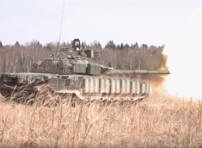 Áo giáp siêu độc đáo trang bị cho tăng T-80BVM, áp dụng được cho cả T-90S/SK? - Ảnh 1.