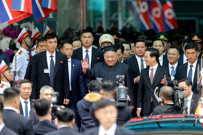 [ẢNH] Toàn cảnh buổi tiếp đón nhà lãnh đạo Triều Tiên Kim Jong Un tại ga Đồng Đăng - Ảnh 11.