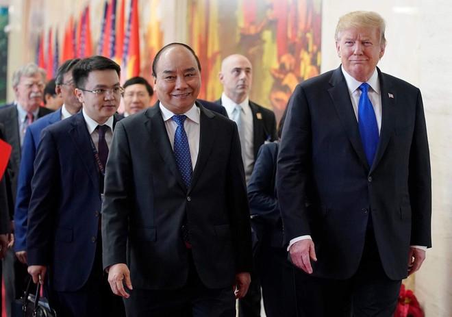 [ẢNH] Toàn cảnh cuộc hội đàm của Tổng thống Mỹ Donald Trump và Tổng Bí thư, Chủ tịch nước Nguyễn Phú Trọng - Ảnh 28.