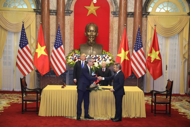 [ẢNH] Toàn cảnh cuộc hội đàm của Tổng thống Mỹ Donald Trump và Tổng Bí thư, Chủ tịch nước Nguyễn Phú Trọng - Ảnh 16.