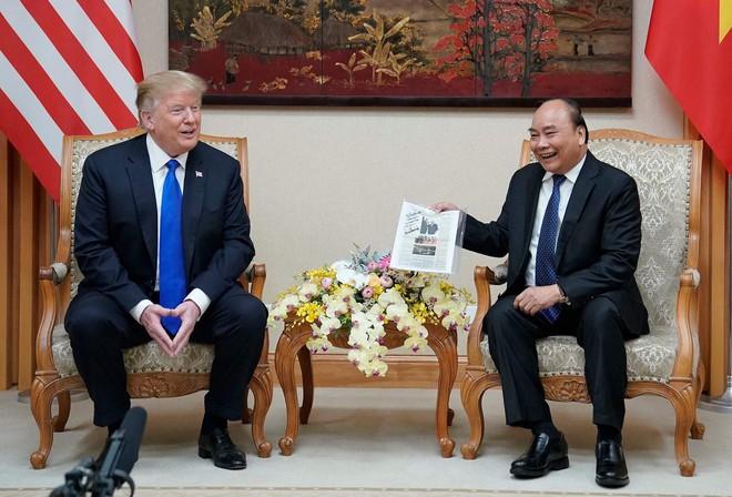 [ẢNH] Toàn cảnh cuộc hội đàm của Tổng thống Mỹ Donald Trump và Tổng Bí thư, Chủ tịch nước Nguyễn Phú Trọng - Ảnh 29.