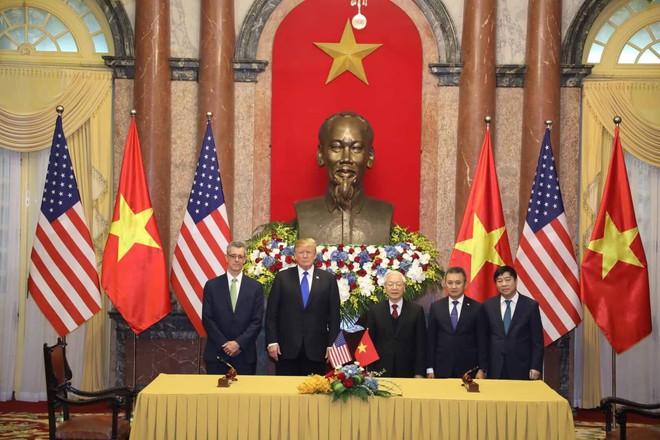 [ẢNH] Toàn cảnh cuộc hội đàm của Tổng thống Mỹ Donald Trump và Tổng Bí thư, Chủ tịch nước Nguyễn Phú Trọng - Ảnh 14.