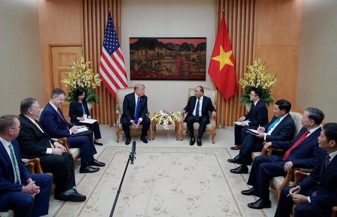 [ẢNH] Toàn cảnh cuộc hội đàm của Tổng thống Mỹ Donald Trump và Tổng Bí thư, Chủ tịch nước Nguyễn Phú Trọng - Ảnh 30.