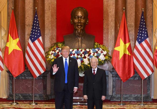 [ẢNH] Toàn cảnh cuộc hội đàm của Tổng thống Mỹ Donald Trump và Tổng Bí thư, Chủ tịch nước Nguyễn Phú Trọng - Ảnh 8.