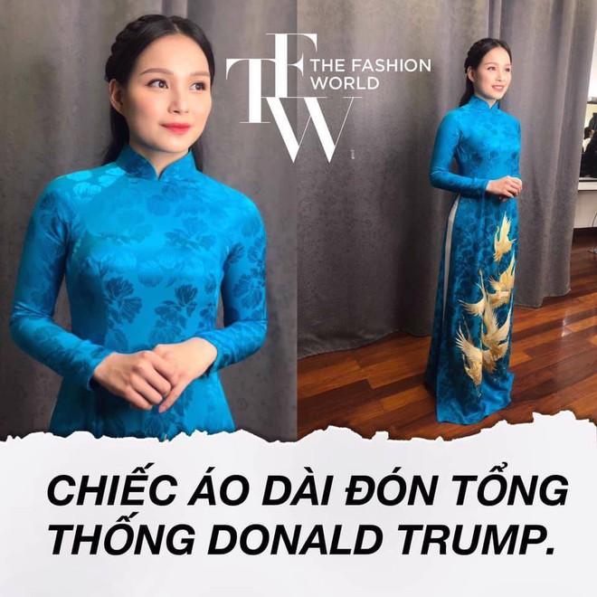 Bí mật đằng sau chiếc áo dài thêu vàng 24k của cô gái tặng hoa cho Tổng thống Donald Trump - Ảnh 1.