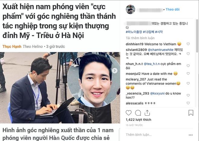 Nam PV Hàn Quốc hào hứng khoe được lên báo Việt Nam sau 1 khoảnh khắc gây sốt trên phố Hà Nội - Ảnh 2.