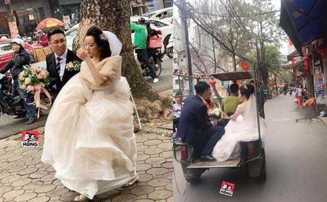 Đường bị cấm phục vụ hội nghị thượng đỉnh, cô dâu xách váy chạy bộ để kịp giờ làm lễ cưới