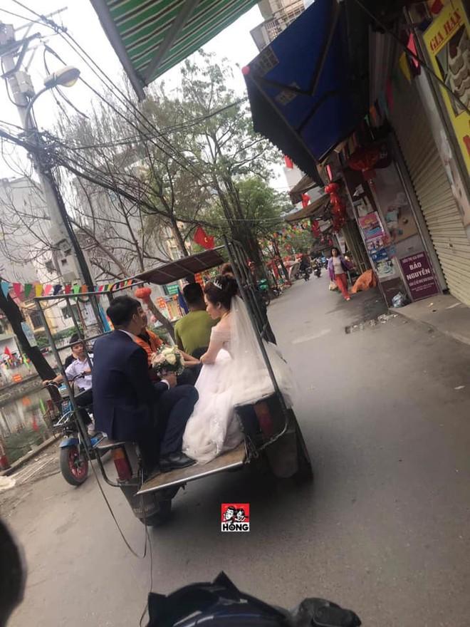 Đường bị cấm phục vụ hội nghị thượng đỉnh, cô dâu xách váy chạy bộ để kịp giờ làm lễ cưới - Ảnh 3.