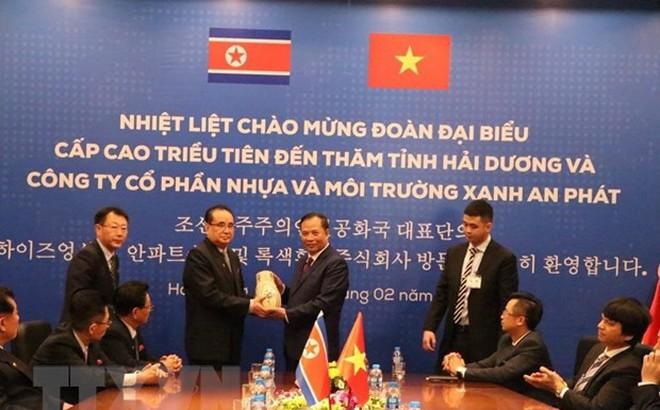 Đoàn đại biểu Đảng Lao động Triều Tiên thăm tỉnh Hải Dương