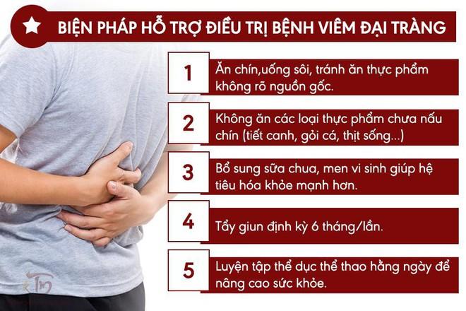 Bệnh viêm đại tràng: Nguyên nhân, triệu chứng và cách chữa bệnh cấp, mãn tính - Ảnh 3.